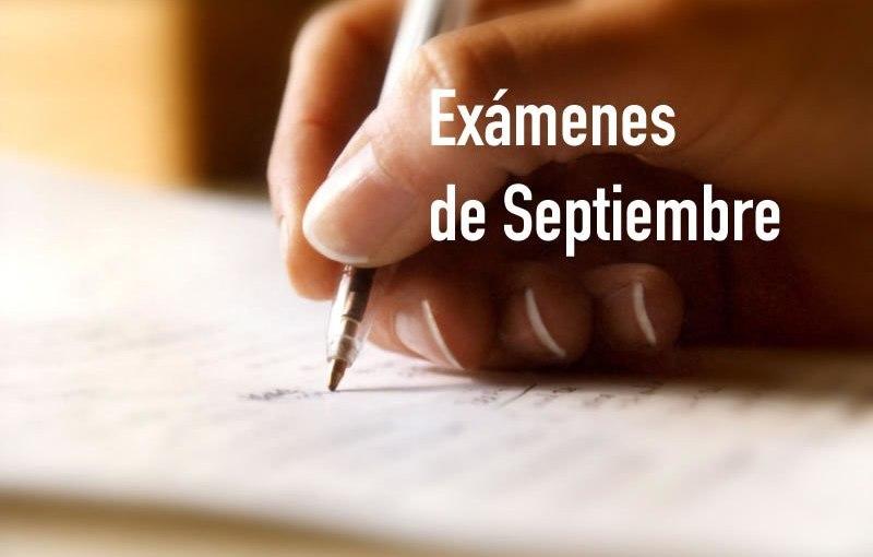 Imagen de la noticia: Calendario de Exámenes de Septiembre 2020 [Actualizado]