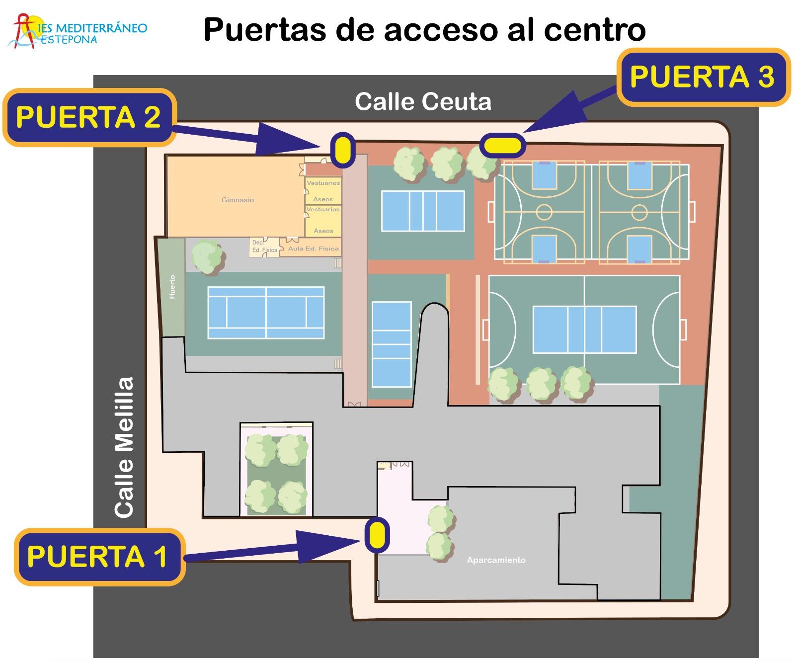 Imagen de la noticia: Horarios y puertas de entrada y salida al centro
