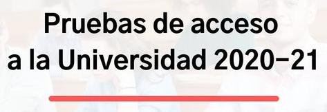 Imagen de la noticia: Prueba de Evaluación de Bachillerato (PEvAU-PA). Curso 2020-2021 [Actualizado]