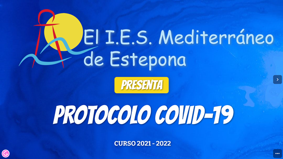 Imagen de la noticia: Presentación del Protocolo COVID-19. Curso 2021-2022 [Actualizado]