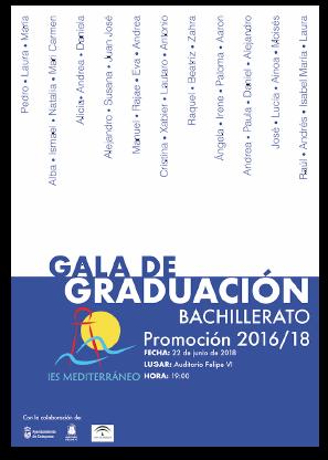 Imagen de la noticia: Gala de Graduación del alumnado de 2º Bachillerato. Promoción 2017/2019 [Actualizado]